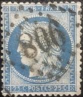 FRANCE Y&T N°60C Cérès 25c Bleu. Oblitéré Losange GC. N°806 - 1871-1875 Cérès