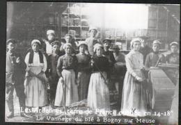 CPSM,Les Ardennes,terre De France Oubliee En 1914,Le Vannage Du Ble à Bogny Sur Meuse,Signé:  Szymanski - France