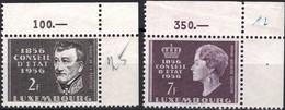 1956 Série Centenaire Du Conseil D'Etat, Neuf,  Michel 2019: 559-560, 2F&7F. Valeur Catalogue: 5,50€ - Luxembourg