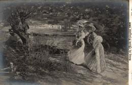 SALON DE   L ECOLE FRANCAISE 1908  SUR LA RIVE - Museum