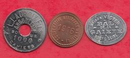 3 Jetons  Dans L 'état Lot N °1 - Monétaires / De Nécessité