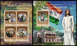 Sierra Leone 2016, Rabindranath Tagore, Klb + S/s MNH - Célébrités