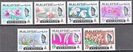 MALAYSIA - 1965, Selangor, Orchids  SL 98/104 Serie Cpl. 7v. Nuovi**/* - Malesia (1964-...)