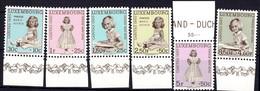 1956 Série Caritas, Neuf,  Michel 2019: 631-636 Valeur Catalogue:12,00€ - Luxembourg