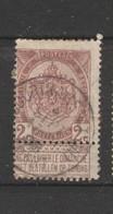 COB 55 Oblitéré COURTRAI (Station) Départ - 1893-1907 Wappen