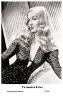 VERONICA LAKE - Film Star Pin Up PHOTO POSTCARD - 27-205 Swiftsure Postcard - Artistas