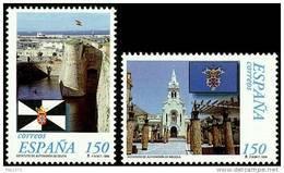 ESPAÑA 1998 - ESTATUTO DE AUTONOMIA DE  CEUTA Y MELILLA - Edifil Nº 3534-3535 - Yvert 3109-3110 - 1931-Hoy: 2ª República - ... Juan Carlos I