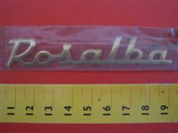 ADESIVO - ROSALBA - NOME NAME METALLIZZATO ORO GOLD RILIEVO VINTAGE 1970 ADHESIVE ETIQUETA ADHESIF - Stickers