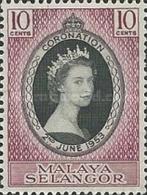 MALAYSIA - 1953, Selangor, Coronation  SL 78 Serie Cpl. 1v. Nuovi** - Malesia (1964-...)