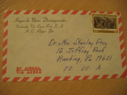 URUBAMBA Via Cuzco 1980 To Reading USA Tarapaca Battle Stamp On Cancel Air Mail Cover PERU - Pérou