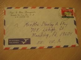 URUBAMBA Via Cuzco 1969 To Reading USA Inaugural Flight Europe Stamp On Cancel Air Mail Cover PERU - Perù