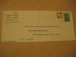 AREQUIPA 19?? To Los Angeles USA Via Maritima 2 Stamp On Cancel Cover PERU - Peru
