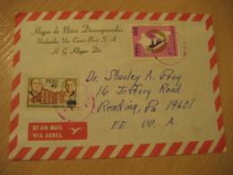 URUBAMBA Via Cuzco 1981 To Reading USA Expo France + Handicapped 2 Stamp On Cancel Air Mail Cover PERU - Peru