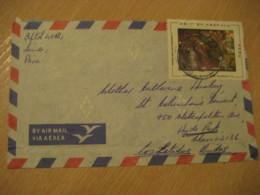 LIMA 1972 To Hyde Park USA Stamp On Cancel Air Mail Cover PERU - Peru
