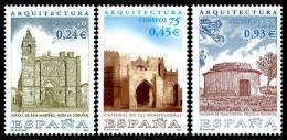 ESPAÑA 2001 - ARQUITECTURA - Edifil Nº 3797-3799 - Yvert 3364-3366 - 1931-Hoy: 2ª República - ... Juan Carlos I