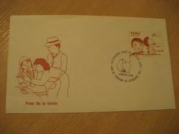 LIMA 1987 Vacunacion Vaccination Vaccinate Health Sante Stamp FDC Cancel Cover PERU - Pérou