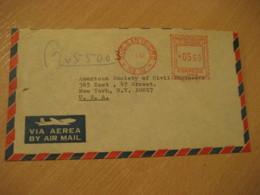 LIMA 1967 To New York USA Cancel Meter Air Mail Cover PERU - Peru