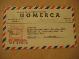 LIMA Gomerca 19?? To Munchen Germany Cancel Meter Air Mail Cover PERU - Peru