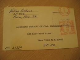 PIURA 1967 To New York USA Cancel Meter Air Mail Cover PERU - Peru
