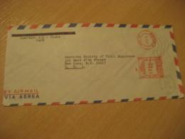 PIURA 1968 To New York USA Cancel Meter Air Mail Cover PERU - Pérou