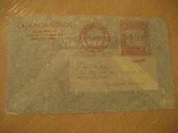 AREQUIPA 1958 To Massachusets USA Cancel Meter Air Mail Cover PERU - Pérou