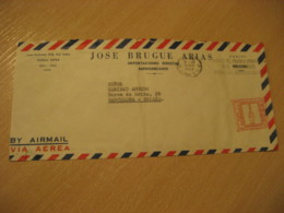 LIMA 1957 To Barcelona Spain Archeology Cancel Meter Air Mail Cover PERU - Pérou