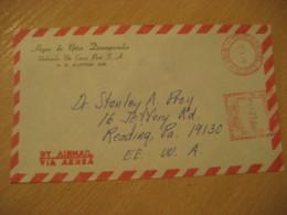 URUBAMBA Via Cuzco 1979 To Reading USA Cancel Meter Air Mail Cover PERU - Pérou