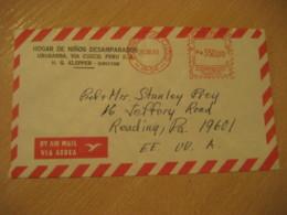 URUBAMBA Via Cuzco 1983 To Reading USA Cancel Meter Air Mail Cover PERU - Peru