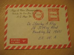 URUBAMBA Via Cuzco 1981 To Reading USA Cancel Meter Air Mail Cover PERU - Peru