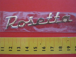 ADESIVO - ROSETTA - NOME NAME METALLIZZATO ORO GOLD RILIEVO VINTAGE 1970 ADHESIVE ETIQUETA ADHESIF - Adesivi
