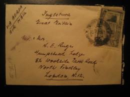1951 To London England University Centenary Stamp Cancel Air Mail DUEL Condolence Cover URUGUAY - Uruguay