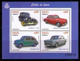 ESPAÑA 2012 - AUTOMOVILES DE EPOCA  - EDIFIL Nº 4725 - YVERT BLOCK 210 - 1931-Hoy: 2ª República - ... Juan Carlos I