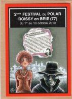 B55356 2e Festival Du Polar, Roissy En Brie - Imagier Géo Thiercy - Cartes Postales