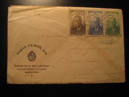 1953 Homenaje A ROOSEVELT FDC Cancel Cover URUGUAY - Uruguay