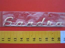 ADESIVO - SANDRA SANDRO - NOME NAME METALLIZZATO ORO GOLD RILIEVO VINTAGE 1970 ADHESIVE ETIQUETA ADHESIF - Adesivi