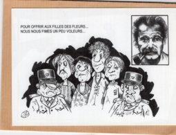B55369 Georges Brassens, Chanson Les QuatreBacheliers - Imagier Géo Thiercy - Cartes Postales