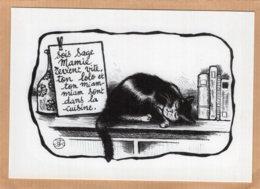 B55370  Chat - Petit Mot De Mamie - Imagier Géo Thiercy - Cartes Postales