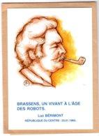 B55375 Georges Brassens, Citation Luc Bérimont  - Imagier Géo Thiercy - Cartes Postales