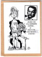 B55376 Georges Brassens,  Chanson : Le Temps Ne Fait Rien à L'affaire  - Imagier Géo Thiercy - Cartes Postales