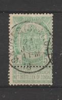 COB 56 Oblitéré BRUGES (Station) - 1893-1907 Wappen