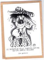 B55381 Georges Brassens, Le Clown Au  Chat - Imagier Géo Thiercy - Cartes Postales