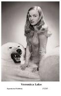 VERONICA LAKE - Film Star Pin Up PHOTO POSTCARD - 27-207 Swiftsure Postcard - Artistas