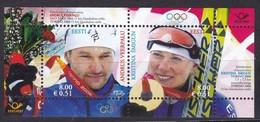 Estland 2006, 549/50 Block 26, Goldmedaillengewinne Bei Den Olympischen Winterspielen, Turin. MNH ** - Estonia