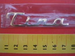 ADESIVO - TINA TINO - NOME NAME METALLIZZATO ORO GOLD RILIEVO VINTAGE 1970 ADHESIVE ETIQUETA ADHESIF - Adesivi