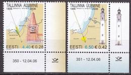 Estland 2006, 552/53, Leuchtturm, Tallinn (Reval). MNH ** - Estonia