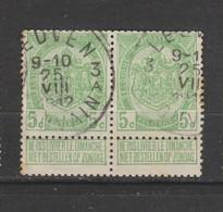 COB 83 Oblitéré LEUVEN 3 A En Paire - 1893-1907 Wappen