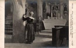 SALON DES ARTISTES  FRANCAIS 1910 INTERIEUR DE CHAPELLE BRETONNE - Musées