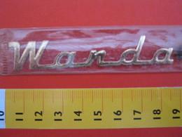 ADESIVO - WANDA - NOME NAME METALLIZZATO ORO GOLD RILIEVO VINTAGE 1970 ADHESIVE ETIQUETA ADHESIF - Adesivi