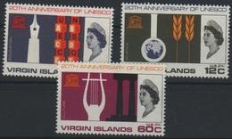 British Virgin Islands - 1966, UNESCO - Mi. 172/74 - Yv. 174/76 Serie Cpl. 3v. Nuovi** Perfetti - British Virgin Islands