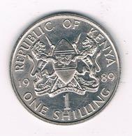 1 SHILLING   1989 KENIA / 0467// - Kenya